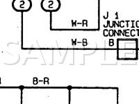 1997 Toyota Tacoma  2.7 L4 GAS Wiring Diagram