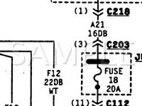 1995 Chrysler NEW Yorker  3.5 V6 GAS Wiring Diagram