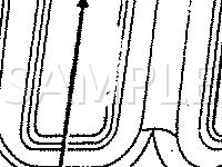 Luggage Compartment Lid Diagram for 1996 Chrysler Sebring JX 2.4 L4 GAS