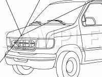 Air Cleaner Assembly Diagram for 2003 Ford E-150 Econoline  4.2 V6 GAS