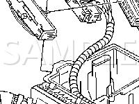 LH Side of Engine Compartment Diagram for 2003 Pontiac Aztek  3.4 V6 GAS