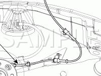 Wheel Speed Sensor Diagram for 2006 KIA RIO  1.6 L4 GAS