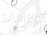 Audio Components Diagram for 2006 KIA RIO LX 1.6 L4 GAS