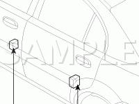 Door Components Diagram for 2006 KIA RIO LX 1.6 L4 GAS