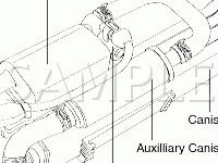 Beneath Vehicle Diagram for 2008 KIA Spectra EX 2.0 L4 GAS