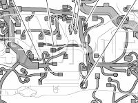 Engine Compartment Diagram for 2008 Lexus ES350  3.5 V6 GAS