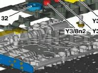 Under Transmission Housing Diagram for 2001 MERCEDES-BENZ C320  3.2 V6 GAS